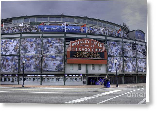 Wrigley's New Wallpaper Greeting Card by David Bearden