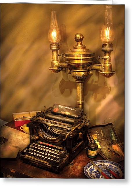 Writer - Remington Typewriter Greeting Card
