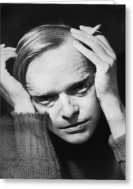 Writer Truman Capote Greeting Card by Roger Higgins