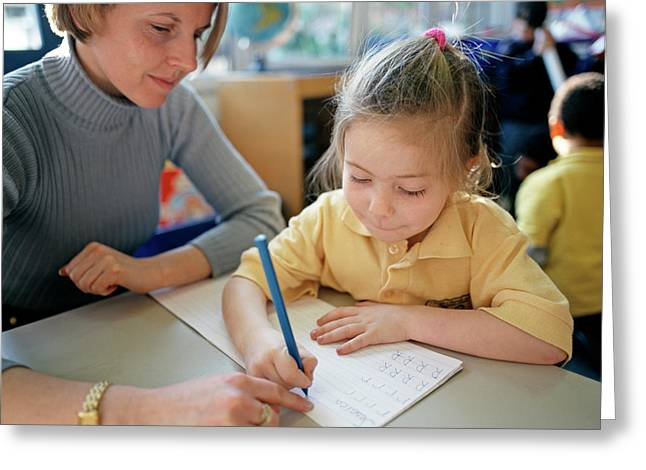 Writing Lesson Greeting Card