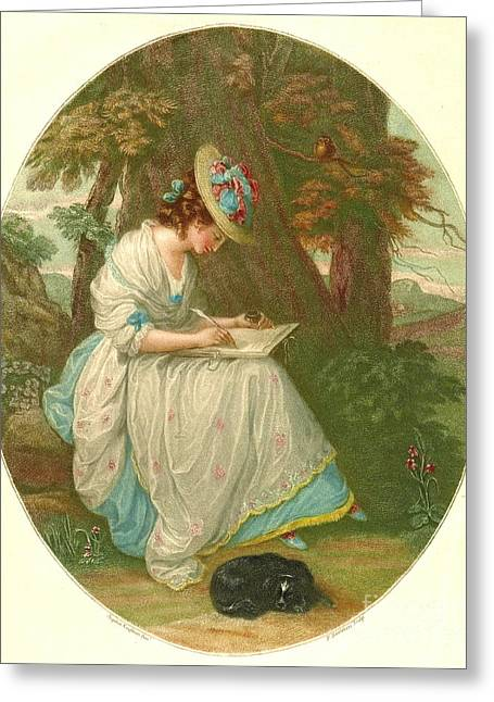 Writing Poetry 1781 Greeting Card