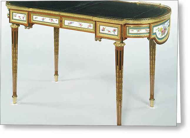 Writing Table Bureau Plat By Martin Carlin, French, Born Greeting Card by Litz Collection