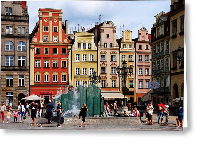 Wroclaw Old Town In Poland Greeting Card by Jacqueline M Lewis
