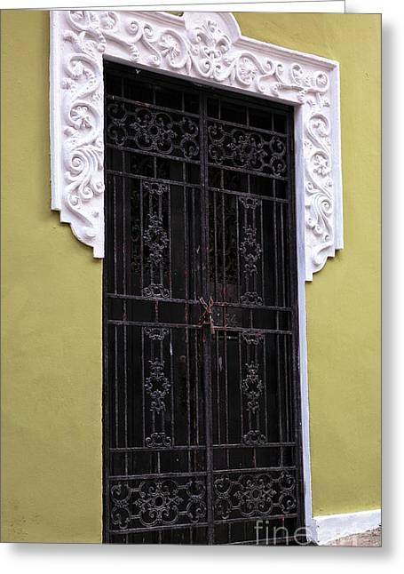 Wrought Iron In San Juan Greeting Card by John Rizzuto