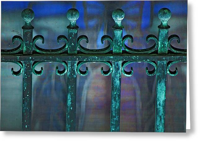 Wrought Iron Greeting Card by Rowana Ray