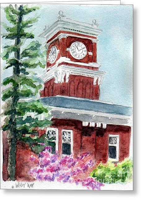 Wsu Clocktower Greeting Card