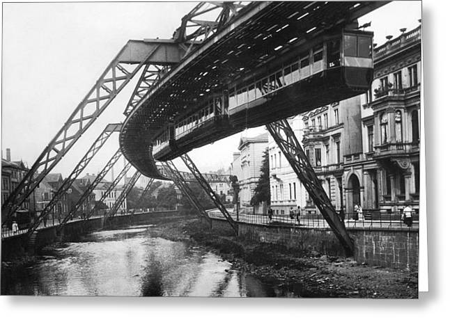 Wuppertal Suspension Railway Greeting Card by Underwood Archives
