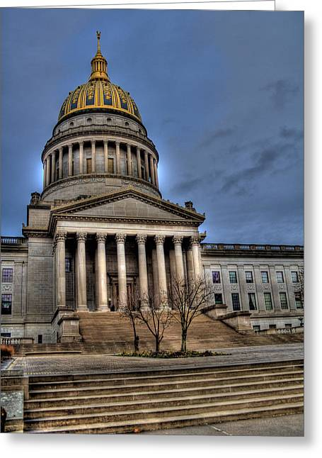 Wv Capital Building 2 Greeting Card by Jonny D