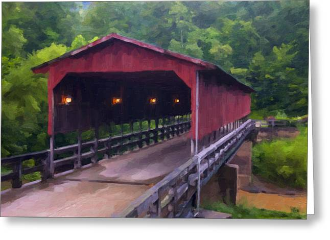 Wv Covered Bridge Greeting Card