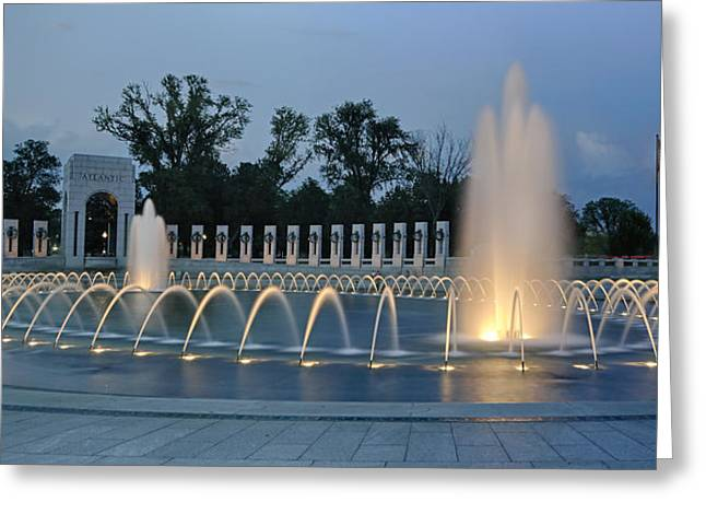 Ww II Memorial At Sunset Greeting Card