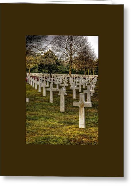 Greeting Card featuring the photograph Ww II War Memorial Cemetery by Elf Evans
