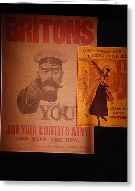 Ww1 Recruitment Posters Greeting Card