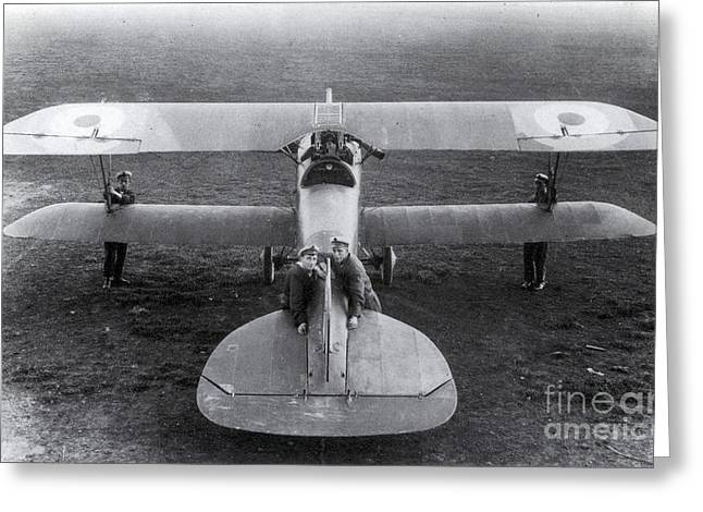 Wwi, Albatros D.iii Fighter Plane Greeting Card by Photo Researchers