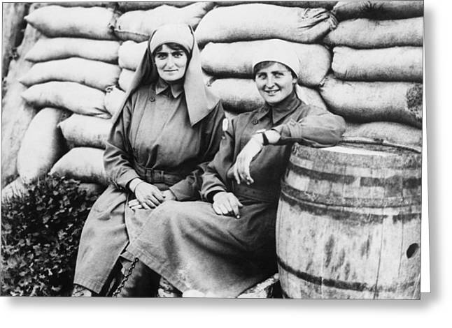 Wwi angels Of Mercy Greeting Card by Underwood Archives