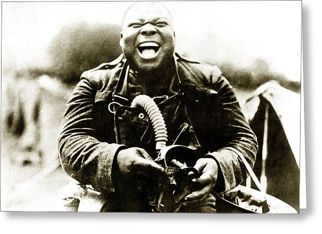 Wwi Big Nims Of The Us Army Greeting Card by Historic Image