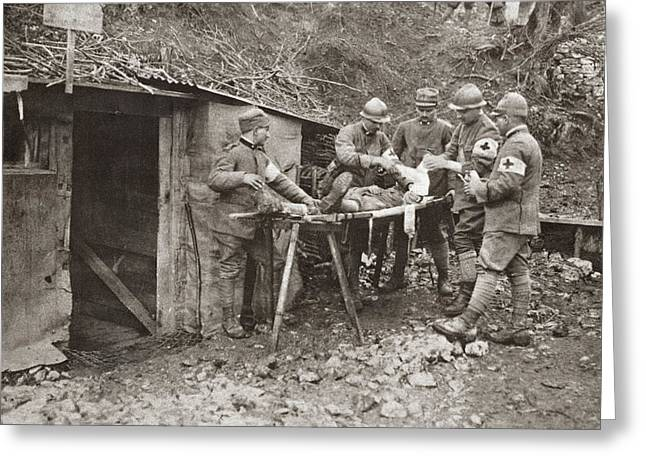 Wwi Dressing Station Greeting Card