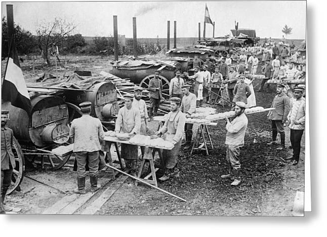 Wwi Field Bakery, 1914 Greeting Card by Granger