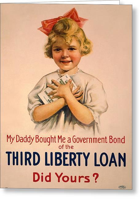 Vintage Bond Girl Greeting Card