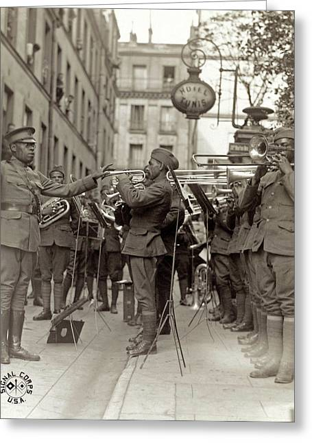 Wwi Jazz Band, 1918 Greeting Card by Granger