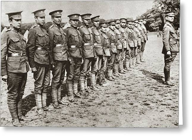 Wwi Mohawk Troops Greeting Card