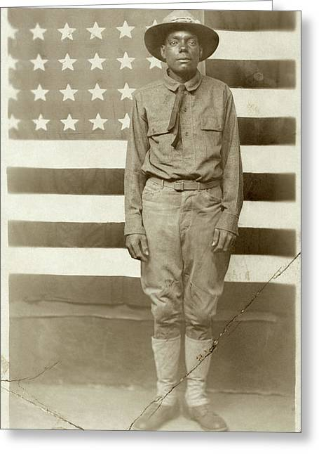 Wwi Soldier, C1916 Greeting Card