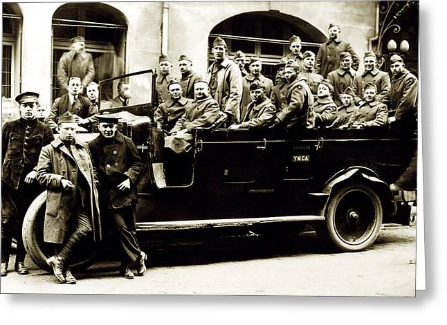 Wwi Touring Paris In 1919 Greeting Card by Historic Image