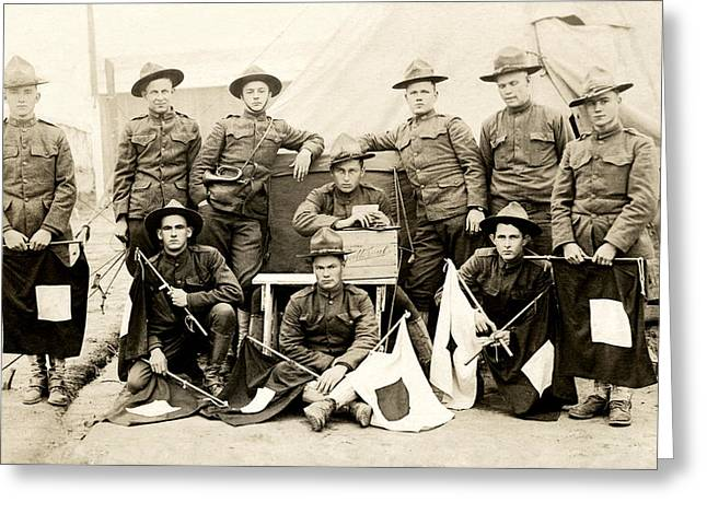 Wwi Us Army Signal Corps Greeting Card by Historic Image