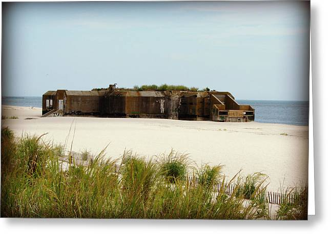 Wwii Bunker Greeting Card by Brenda Conrad