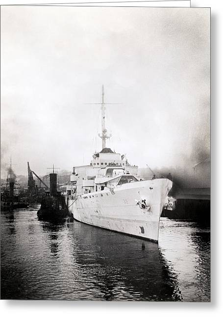 Wwii Coast Guard Cutter Campbell Greeting Card by Historic Image