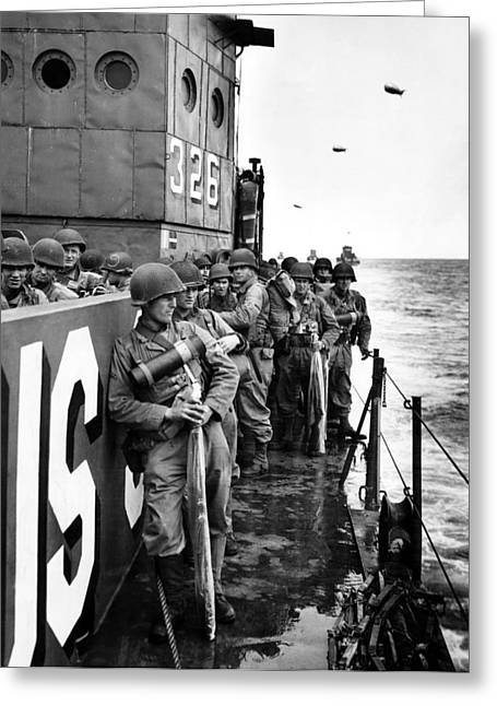 Wwii D Day Landing Greeting Card