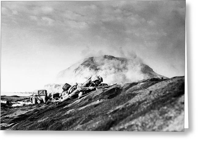 Wwii Iwo Jima Beachhead  Greeting Card by Historic Image