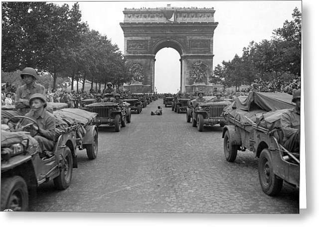 Wwii Paris, 1944 Greeting Card by Granger
