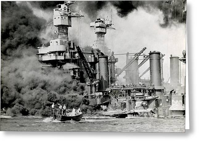 Wwii Pearl Harbor Attack Greeting Card