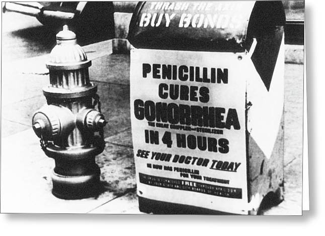 Wwii Penicillin Advert Greeting Card