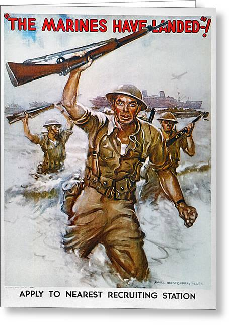 Wwii Recruiting Poster Greeting Card by Granger