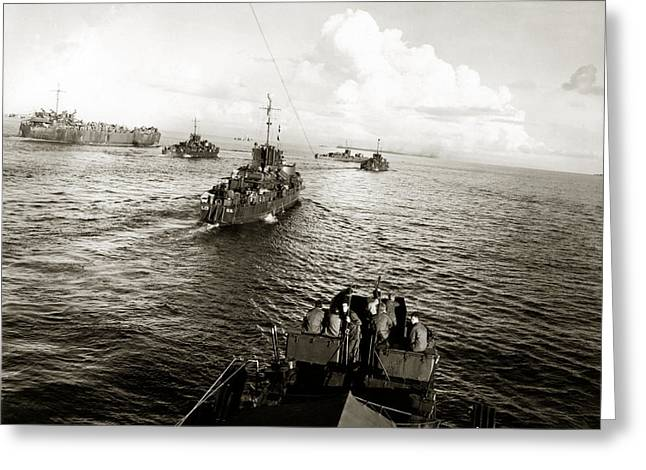 Wwii Us Navy In Philippine Waters Greeting Card