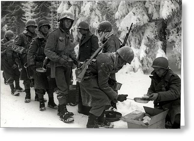 Wwii Veterans Battle Of The Bulge Greeting Card