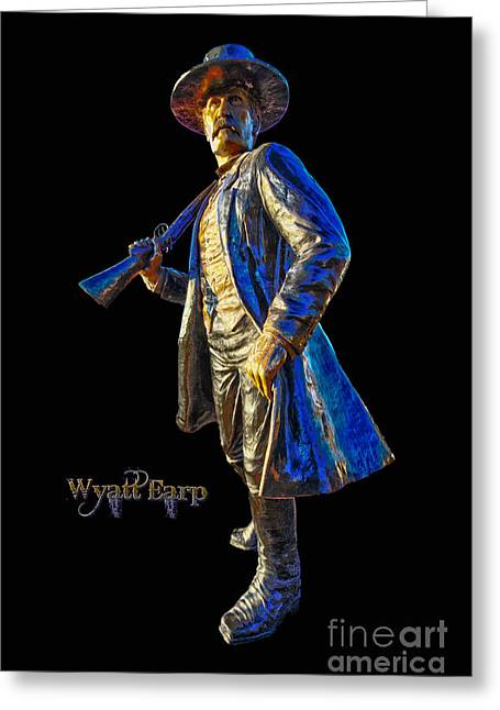 Wyatt Earp Statue Hdr Poster Greeting Card by Andreas Hohl