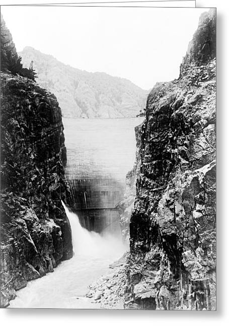Wyoming Shoshone Dam Greeting Card by Granger