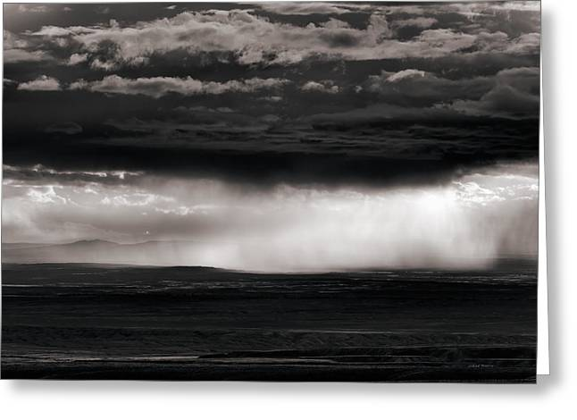 Wyoming Storm Greeting Card by Leland D Howard