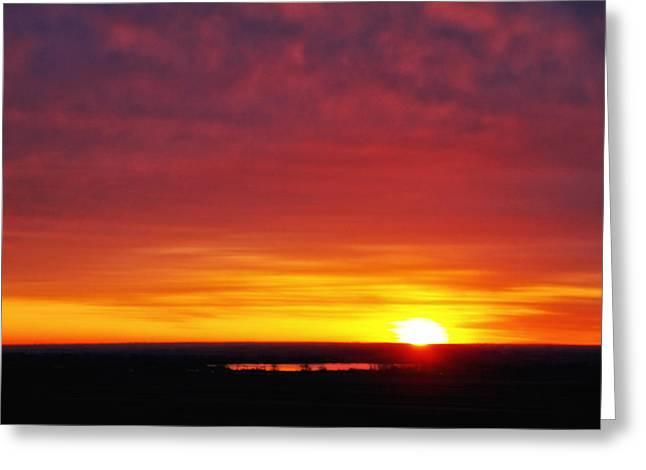 Wyoming Sunrise Greeting Card