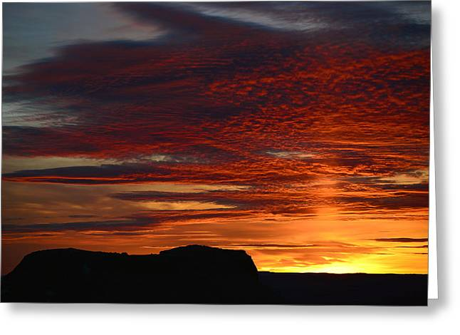 Wyoming Sunset #1 Greeting Card by Eric Nielsen