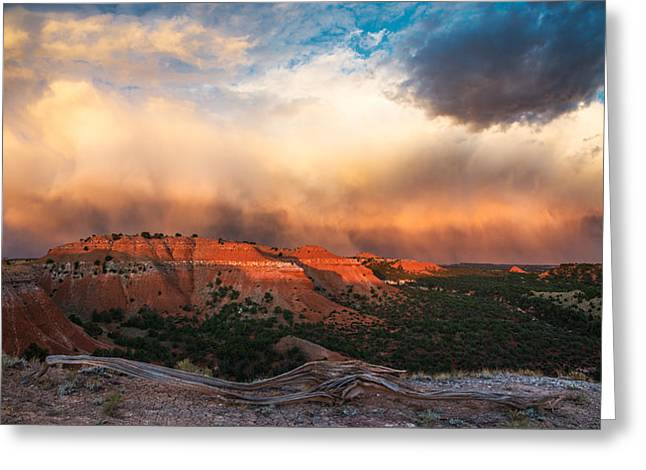 Wyoming Sunset Greeting Card by Leland D Howard