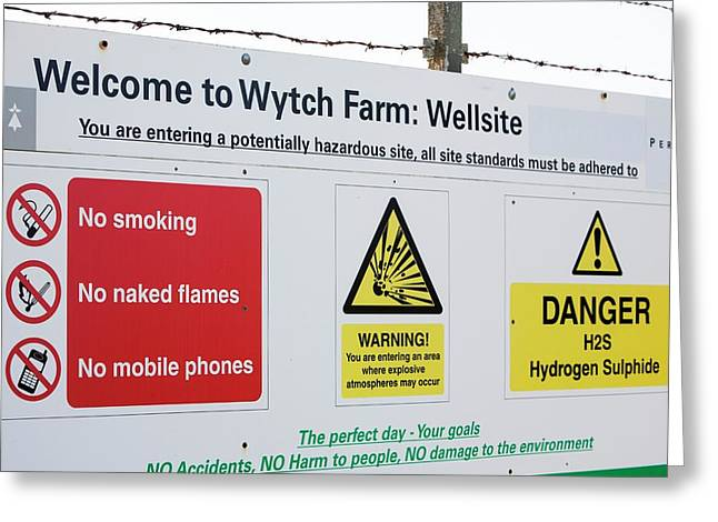 Wytch Farm Oil Well At Kimmeridge Bay Greeting Card by Ashley Cooper