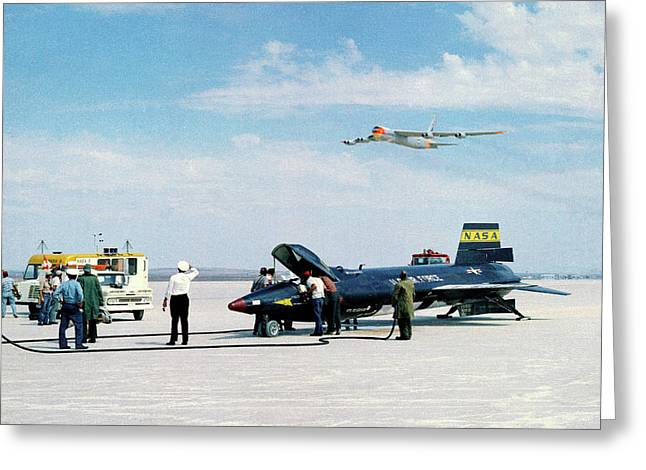 X-15 Aircraft After Landing Greeting Card