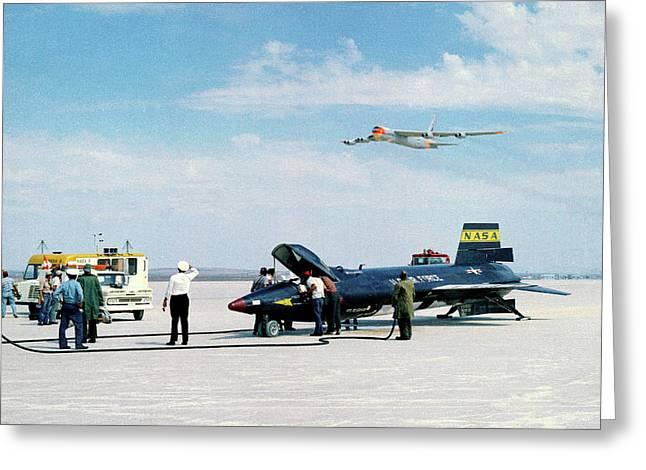 X-15 Aircraft After Landing Greeting Card by Nasa