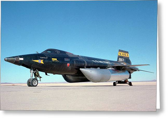 X-15 Aircraft And Fuel Tanks Greeting Card