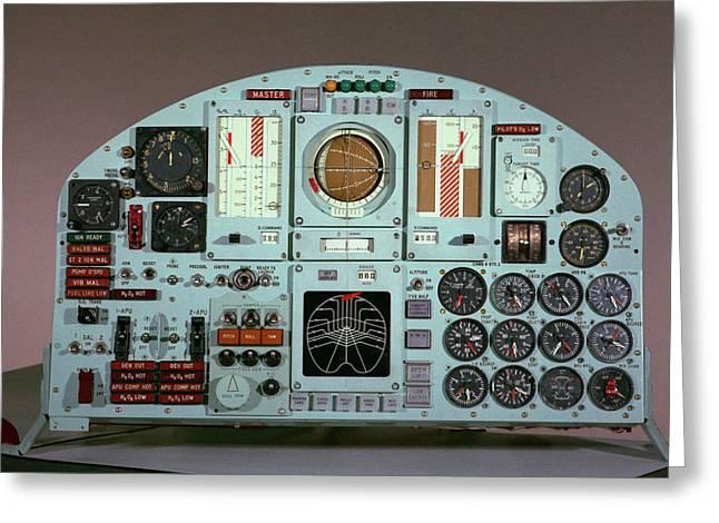 X-15 Aircraft Control Panel Greeting Card