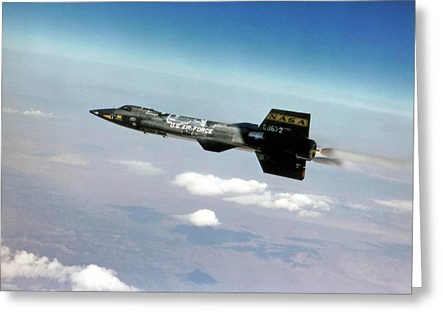 X-15 Aircraft In Flight Greeting Card by Nasa/usaf