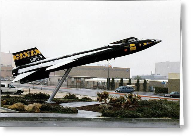 X-15 Aircraft Replica Installation Greeting Card by Nasa
